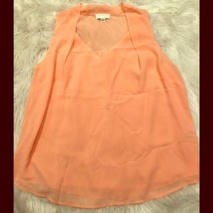Forever 21 Tops - F21+ Peach Blouse Tank w| Pleats Size 2X
